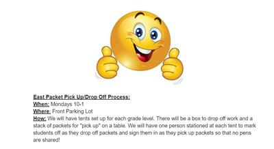 Packet Pick-Up/Drop-Off Instructions