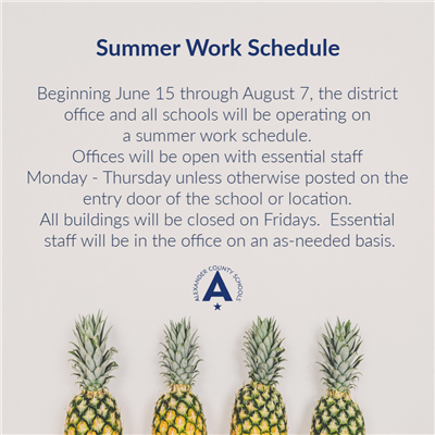 Graphic for Summer Work Hours
