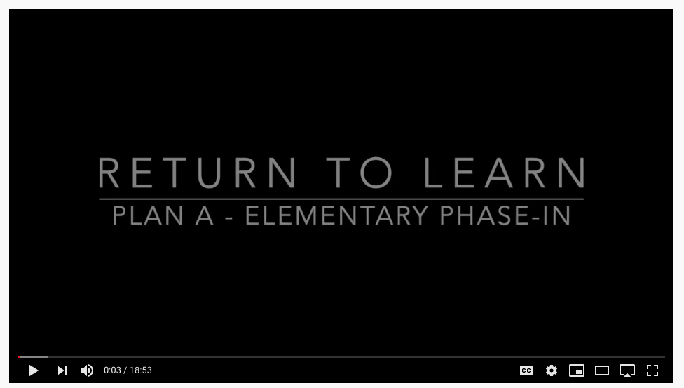Return to Learn: Plan A - Phase1