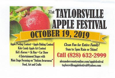 Graphic for the Taylorsville Apple Festival
