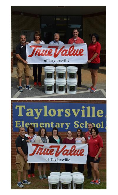 Taylorsville True Value Donates Paint to Schools