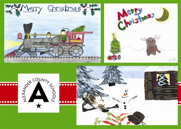 Student Artwork Featured on District Holiday Card