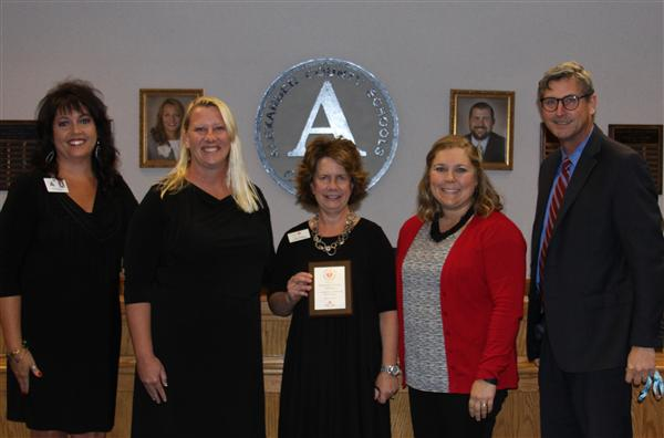 Alexander County Schools Receive AHA Silver  Level District Circle of Excellence Award
