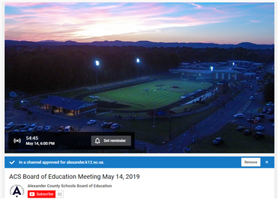 Watch the School Board Meeting on our YouTube Channel at 6:00 PM