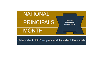 National Principal Month banner created inhouse