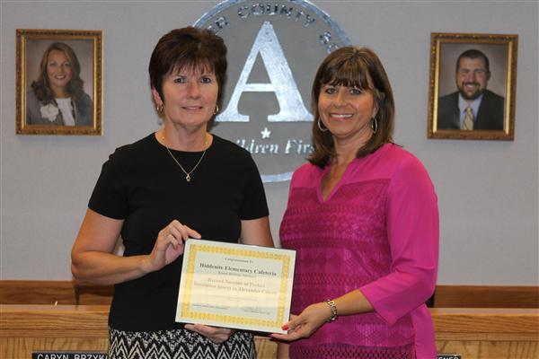 Brittain Recognized for Record Number of Perfect Sanitation Scores