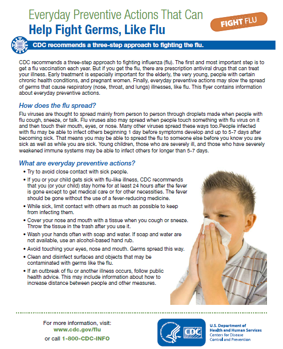 Everyday Preventive Actions That Can Help Fight Germs, Like The Flu