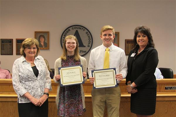 Brown and Bishop are Selected to Attend Governor's School