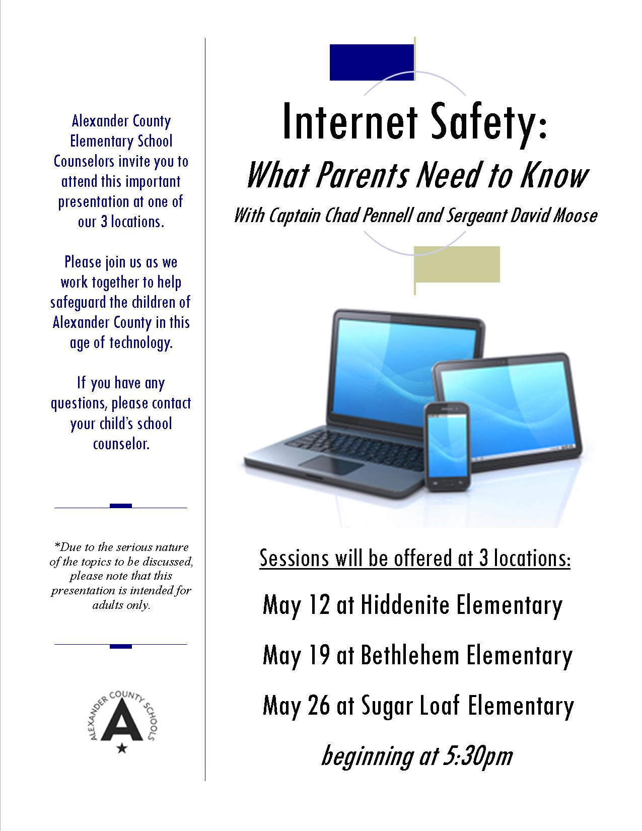 Internet Safety Information Opportunity