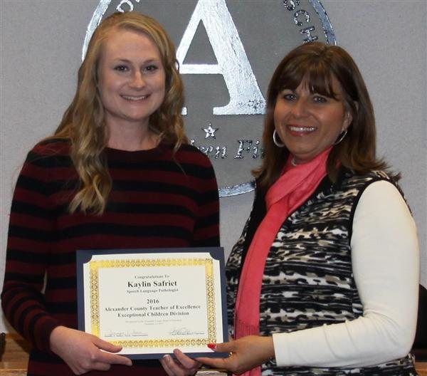 Safriet Recognized as 2016 Exceptional Children Educator of Excellence