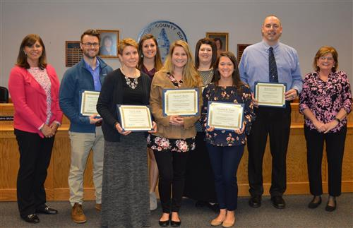 photo of staff recognized for National Board Certification