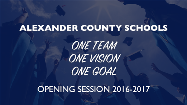 Opening Session - Welcome Back Staff