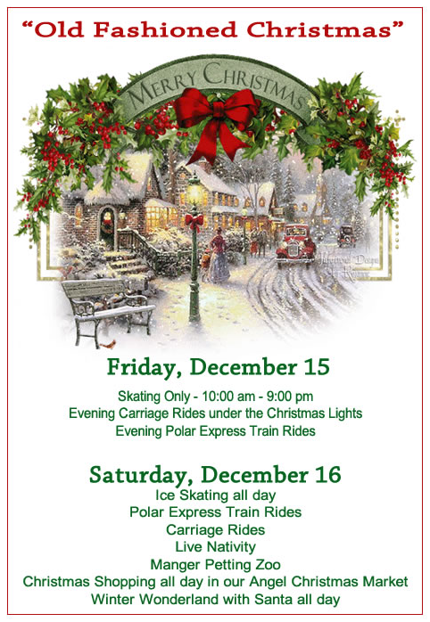 Flyer for the Old Fashion Christmas Event sponsored by the Taylorsville Apple Festival.