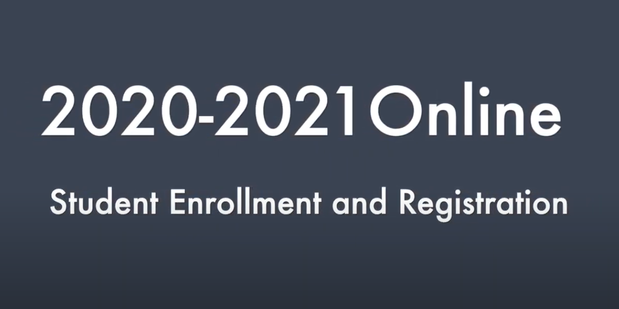 Video graphic for online enrollment and registration