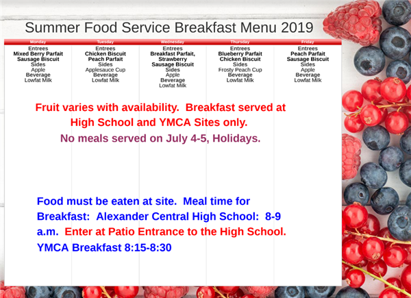 Summer Meal Program - Breakfast