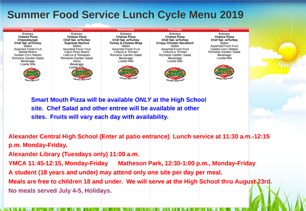 Summer Meal Program - Lunch