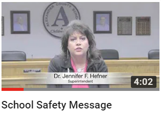 School Safety Message from Superintendent Hefner
