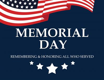 Memorial Day Schedule for Free Meals