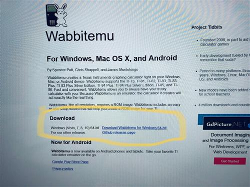 Technology / TI84 Plus Download