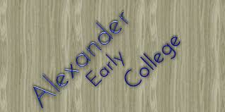 online orders for Alexander Early College