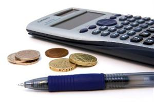 Image of coins and calculator